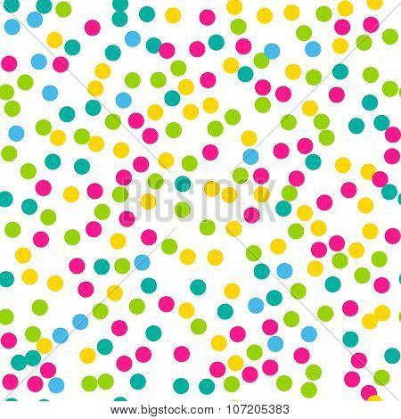 Confetti seamless pattern. Bright colors.