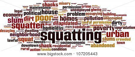 Squatting Word Cloud