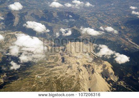 Heaven And Mountainous Earth Sky Above Cloud.