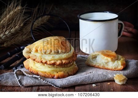 Patties With Cottage Cheese On Canvas