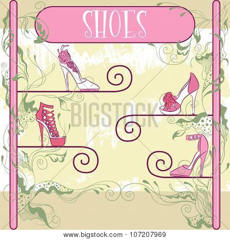 Decorative Shoe Showcase