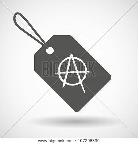 Label Icon With An Anarchy Sign