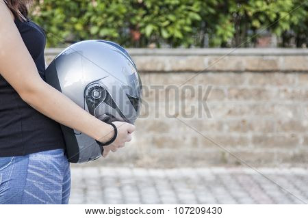 Woman Biker And Her Safety
