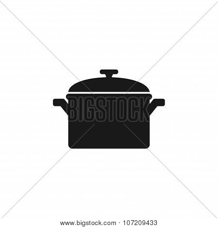 Saucepan Icon. Vector Illustration.
