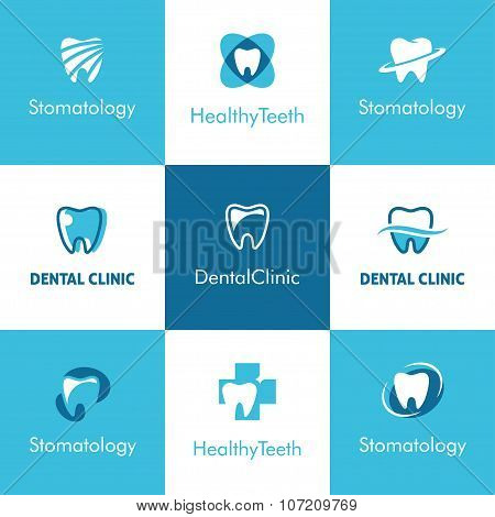 Dental Clinic Teeth Logo