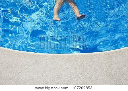 Baby Legs In The Swimming Pool