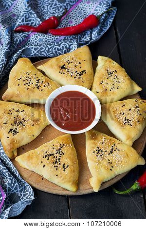 Samosa With Pumpkin - Traditional Oriental Pastries
