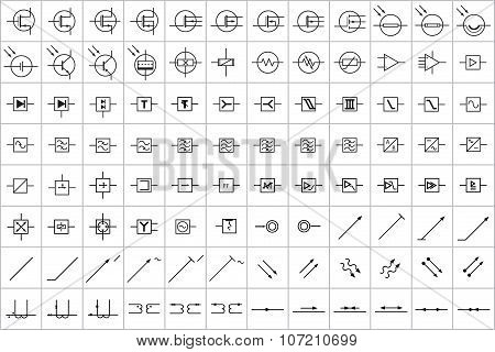 96 Electronic and Electric Symbols v.3