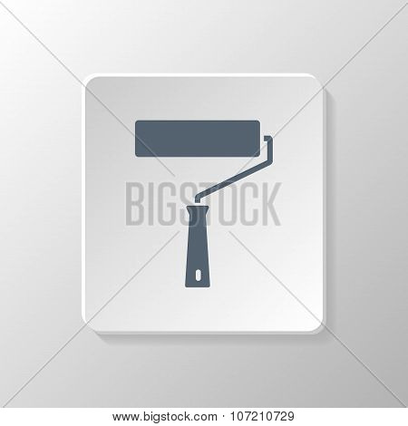 Paint Roller Sign Icon