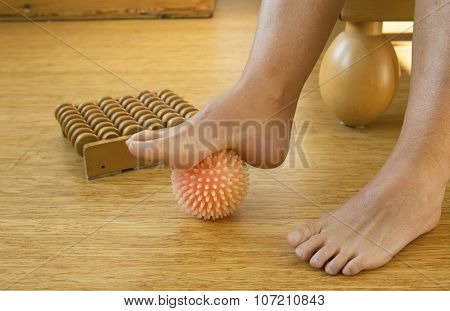 Foot With Massage Ball