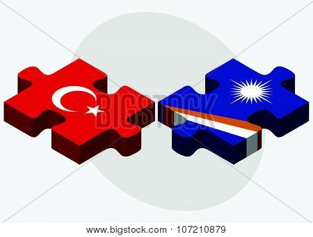 Turkey And Marshall Islands Flags