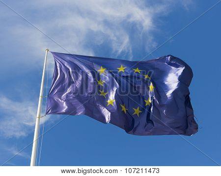 Blue Eu Flag With Stars