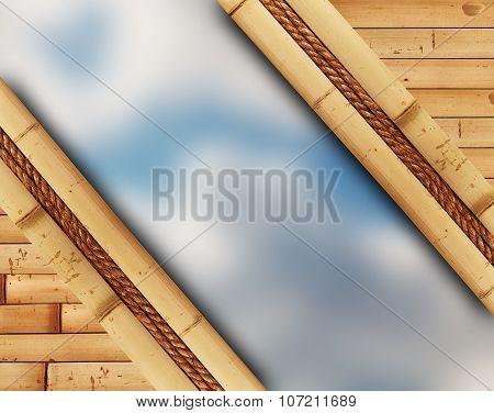 Blur Sky In Bamboo Frame