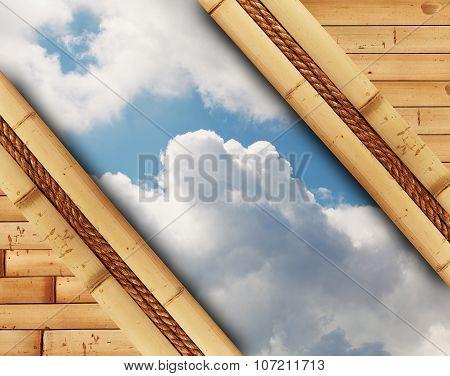 Sky In Bamboo Frame