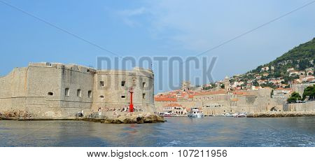 Entrance to the old town harbour at Dubrovnik