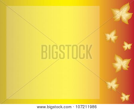 Fall Autumn Leaves Background Horizontal