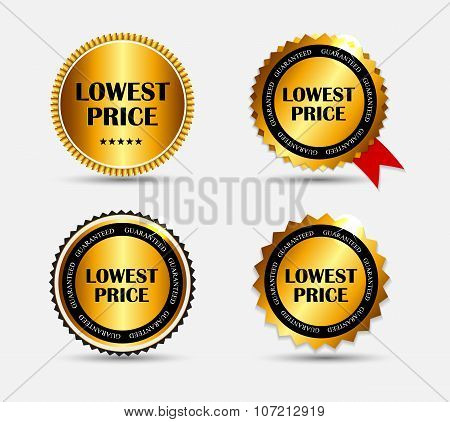Lowest Price Label Set Vector Illustration