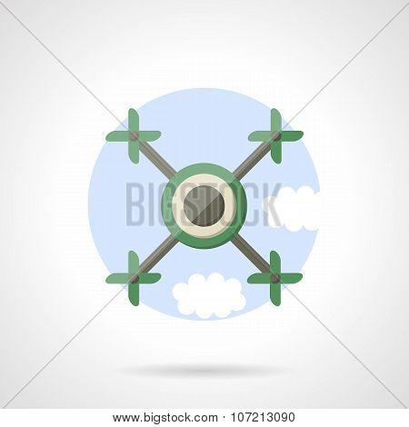 Quadrotor flat color vector icon