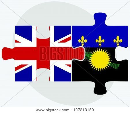 United Kingdom And Guadeloupe Flags