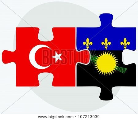 Turkey And Guadeloupe Flags