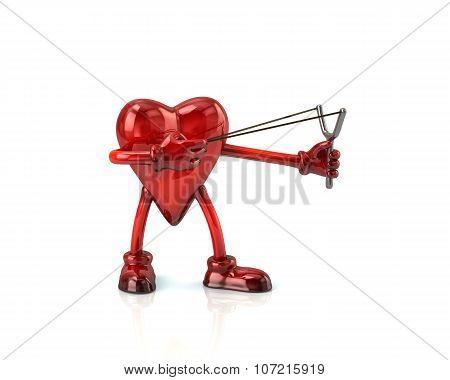 Heart Aiming Slingshot