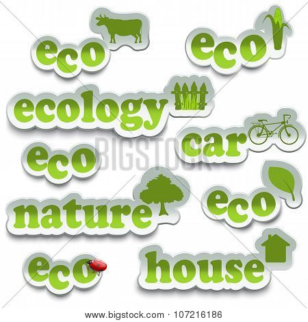 Ecology Sticker Set