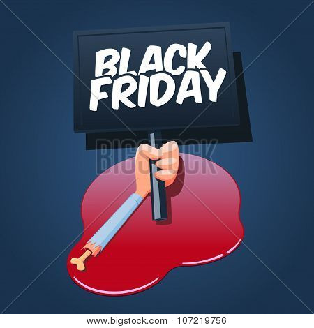 Black Friday concept illustration.