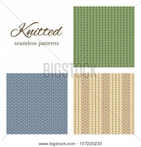Knitted Vector Backgrounds