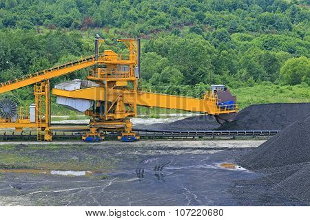 Wheel excavator for digging the coal