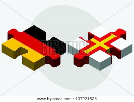 Germany And Guernsey Flags