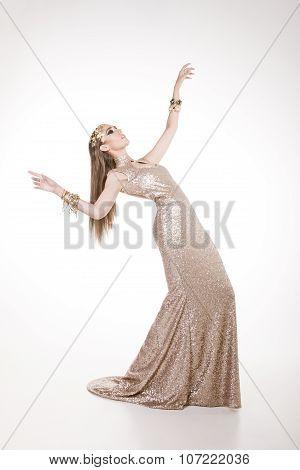 Ravishing Model In A Sparkling Dress