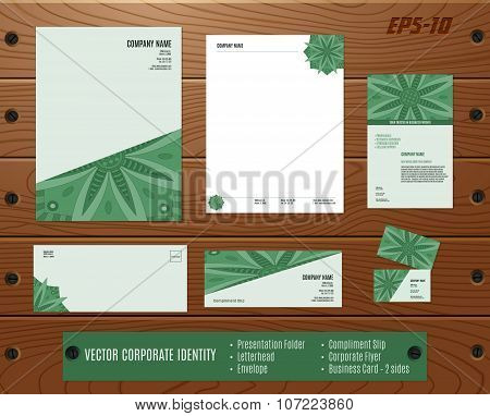 Corporate Identity Set: Presentation Folder, Letterhead, Envelope, Compliment Slip, Corporate Flyer,