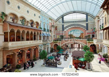 Mercato Shopping Mall Of Dubai With Mediterranean Architecture