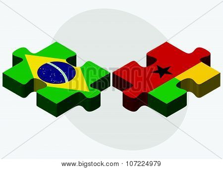Brazil And Guinea-bissau Flags
