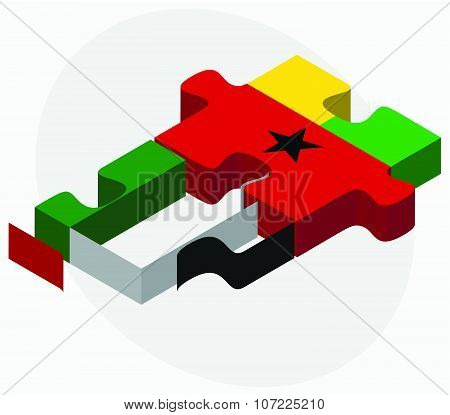 United Arab Emirates And Guinea-bissau Flags