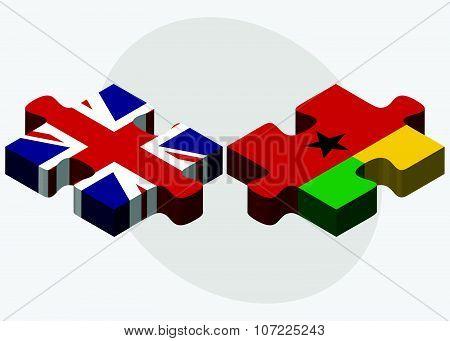 United Kingdom And Guinea-bissau Flags
