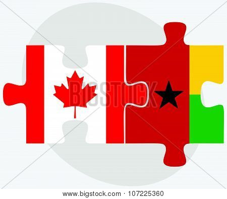 Canada And Guinea-bissau Flags