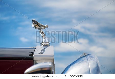 Hood Ornament Of A 1937 Rolls Royce Parkward Limousine