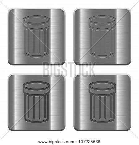 Metal Trash Buttons