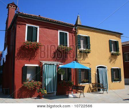 Burano Venice Italy houses