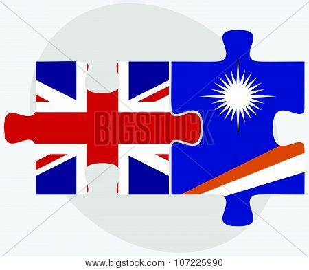United Kingdom And Marshall Islands Flags