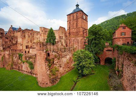 Heidelberg castle fragment view during daytime
