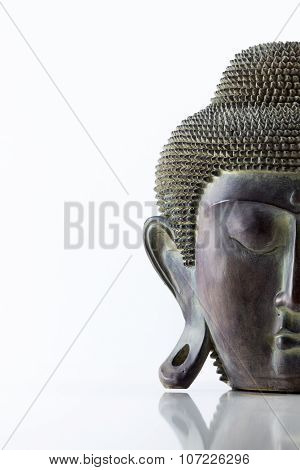 Buddha head on a white background