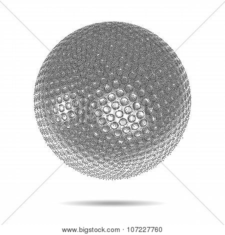 Dotwork Halftone Vector Sphere