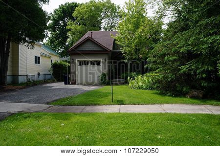 Home with Small Garage