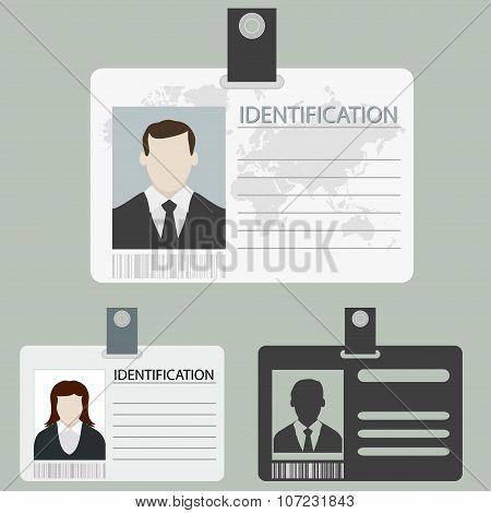 vector id card set