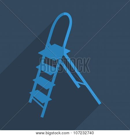 Flat icons modern design with shadow of ladder