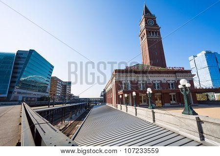 View of Seattle King Street Station with tower