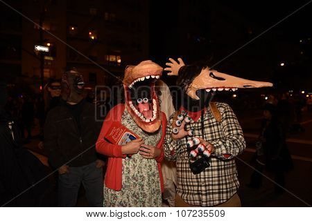 A West Village Halloween parade
