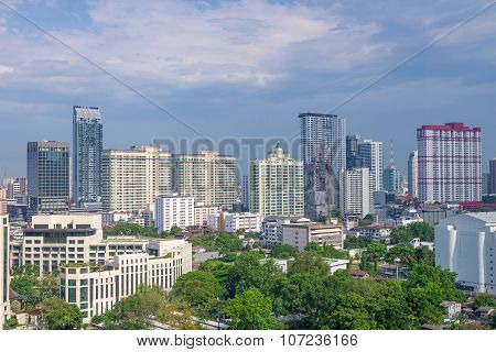 View Of Apartment Building In Bangkok Thailand